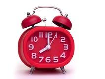 Despertador vermelho clássico Foto de Stock Royalty Free