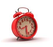Despertador vermelho rendição 3d Imagens de Stock Royalty Free