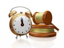 Despertador y juez de cobre Gavel Mallet stock de ilustración