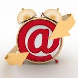 Despertador y símbolo del email Ayuda en línea del concepto libre illustration
