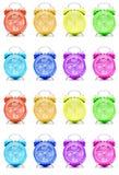 Despertadores coloridos Foto de Stock