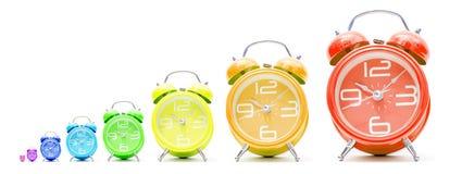 Despertadores coloridos Fotografia de Stock Royalty Free