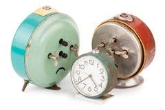 Despertadores velhos Foto de Stock Royalty Free