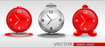 Despertadores vermelhos, cinzentos ilustração do vetor