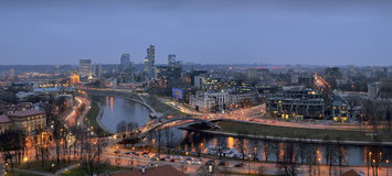 Despertar la ciudad de Vilna Imagen de archivo libre de regalías