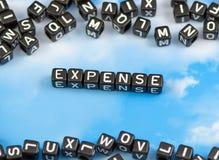 A despesa da palavra fotografia de stock royalty free