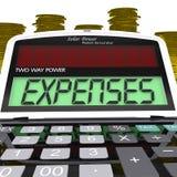 Despesa do negócio de mostras da calculadora das despesas ilustração royalty free