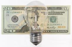Despesas da energia Imagens de Stock