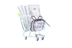 Despesas de agregado familiar em um orçamento de shoestring Fotografia de Stock Royalty Free