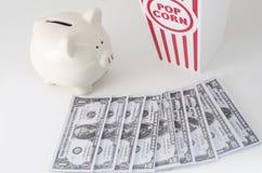 Despesas do petisco e de entretenimento Imagens de Stock
