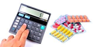 Despesas médicas calculadoras imagens de stock royalty free