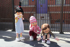 Despicable Me Characters at Universal Studios Hollywood Stock Photos