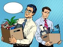 Despido y empleo del trabajo stock de ilustración