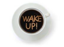 Despierte el café Fotos de archivo libres de regalías