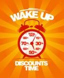 Despierte el diseño de la venta. Imagen de archivo libre de regalías