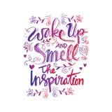 Despierte y huela la inspiración libre illustration