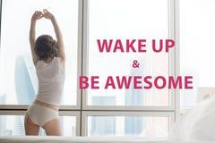 Despierte y sea impresionante Imagenes de archivo