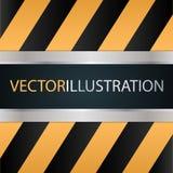 Desplazamiento de puertas del metal Técnica y mecánicos ilustración del vector