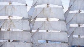 Despliegue de la fragata de la vela Fotos de archivo