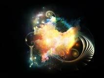 Despliegue de las nebulosas del diseño Imagenes de archivo