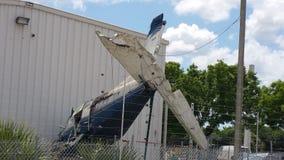 Desplome de aeroplano Imagenes de archivo