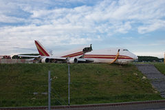 Desplome de aeroplano cerca del ferrocarril Imagen de archivo