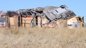 Desplome de tren en Wyoming I80 fotografía de archivo libre de regalías