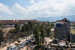 Desplome de Turkish Airlines Airbus en el aeropuerto de Katmandu Imagenes de archivo