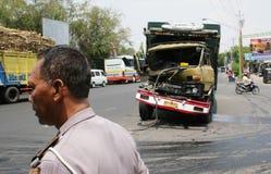 Desplome del accidente del camión Imagen de archivo libre de regalías