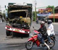 Desplome del accidente del camión Imagen de archivo