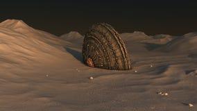 Desplome del UFO de la nave espacial Imagen de archivo libre de regalías