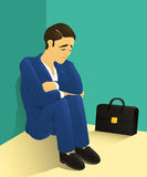 Despondent businessman Stock Images