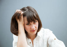 Despondent young woman Royalty Free Stock Photo