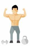 Desportista de Mucles Imagem de Stock