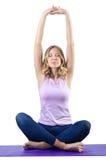 Desportista fêmea que faz exercícios Fotografia de Stock Royalty Free