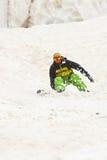 Desportista nas montanhas fotografia de stock