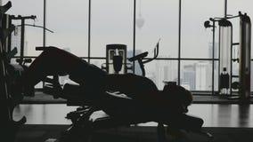 Desportista no Gym video estoque