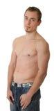 Desportista novo com um torso desencapado Imagens de Stock Royalty Free