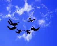Desportistas-parashutist ilustração royalty free