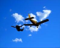 Desportistas-parashutist imagens de stock royalty free