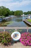 Desporto de barco feliz - bóia de vida Fotografia de Stock Royalty Free