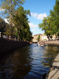 Desporto de barco na cidade Imagens de Stock