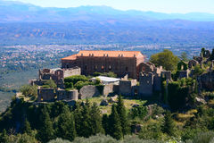 Despot Palace at Mystras archaeological site, Greece Stock Photos