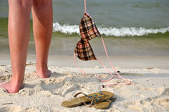 Despreocupado en la playa Imagen de archivo