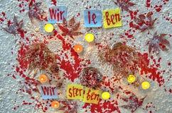 Después de attentado terrorista Fotografía de archivo libre de regalías