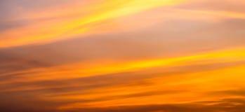 Después de cielo de la puesta del sol Fotos de archivo libres de regalías
