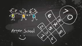 Después de escuela ilustración del vector