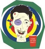 Después de expresiones de la cara del partido ilustración del vector