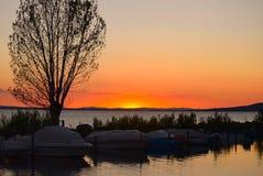 Después de la puesta del sol Fotos de archivo libres de regalías