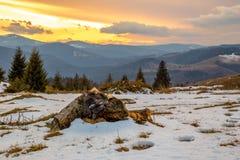 Después de la puesta del sol de la tormenta Fotografía de archivo libre de regalías